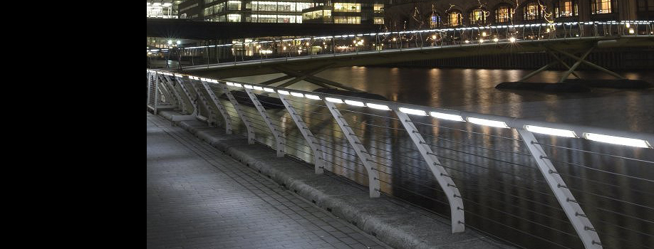 Main Courante LED, Eclairage pont,passerelle,escaliers